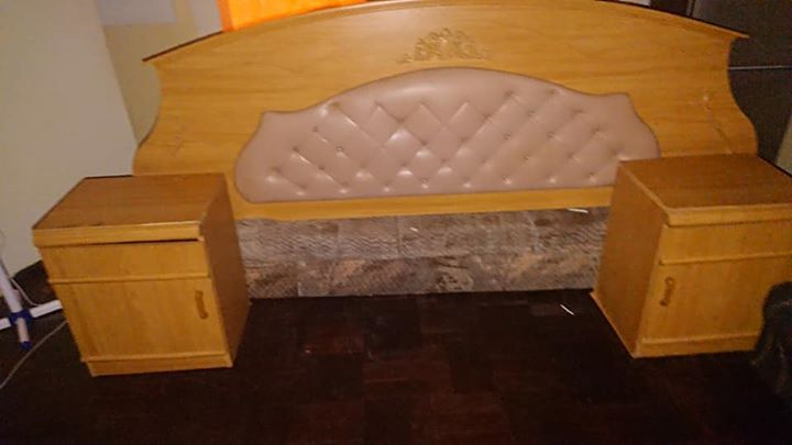 Headboard n bedside tables