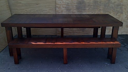 Patio table Farmhouse series 2500 Combo 1 Stained
