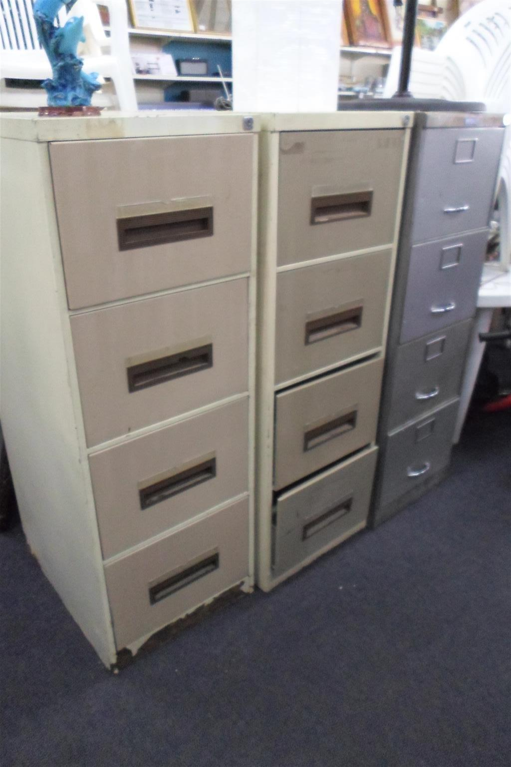 4 Drawer Steel Filing Cabinets - B033046417-1-3
