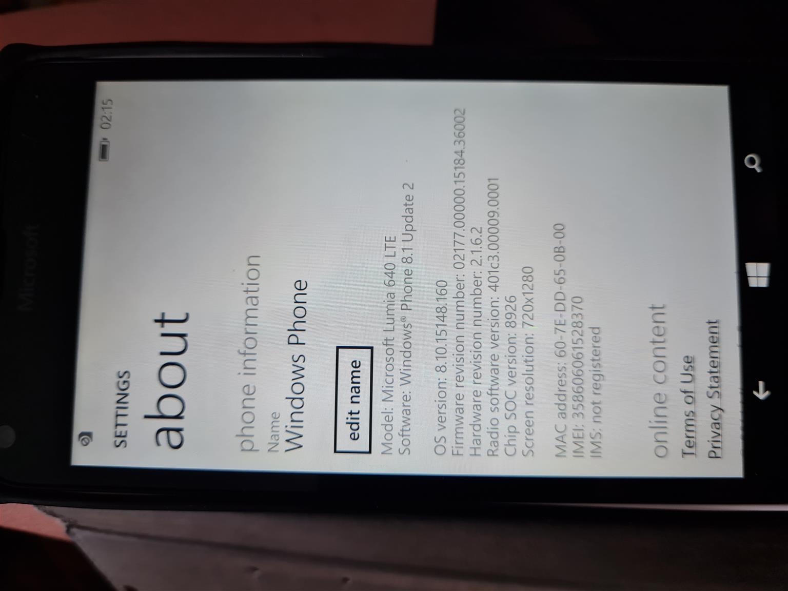 Microsoft Lumia RM-1074 Cellphone