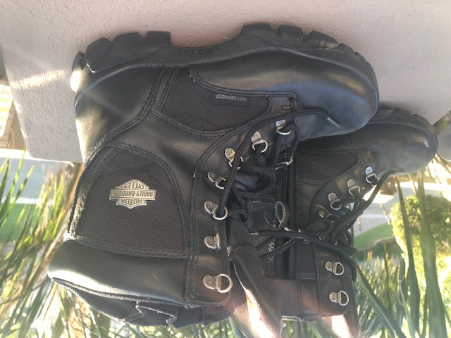 Ladies Harley Black Waterproof Riding Boots for Sale.