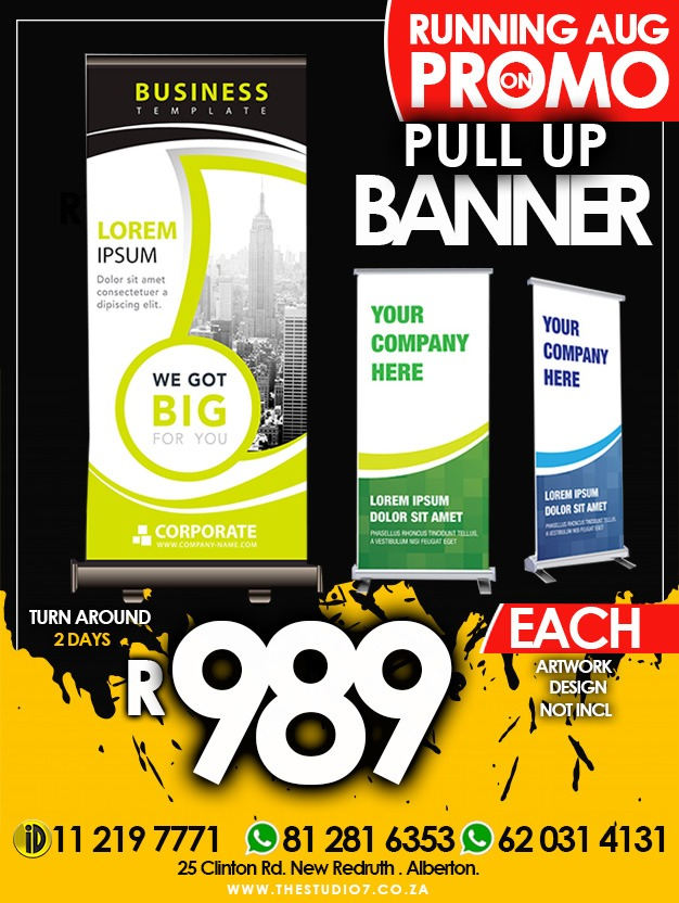PULL UP BANNER PROMO