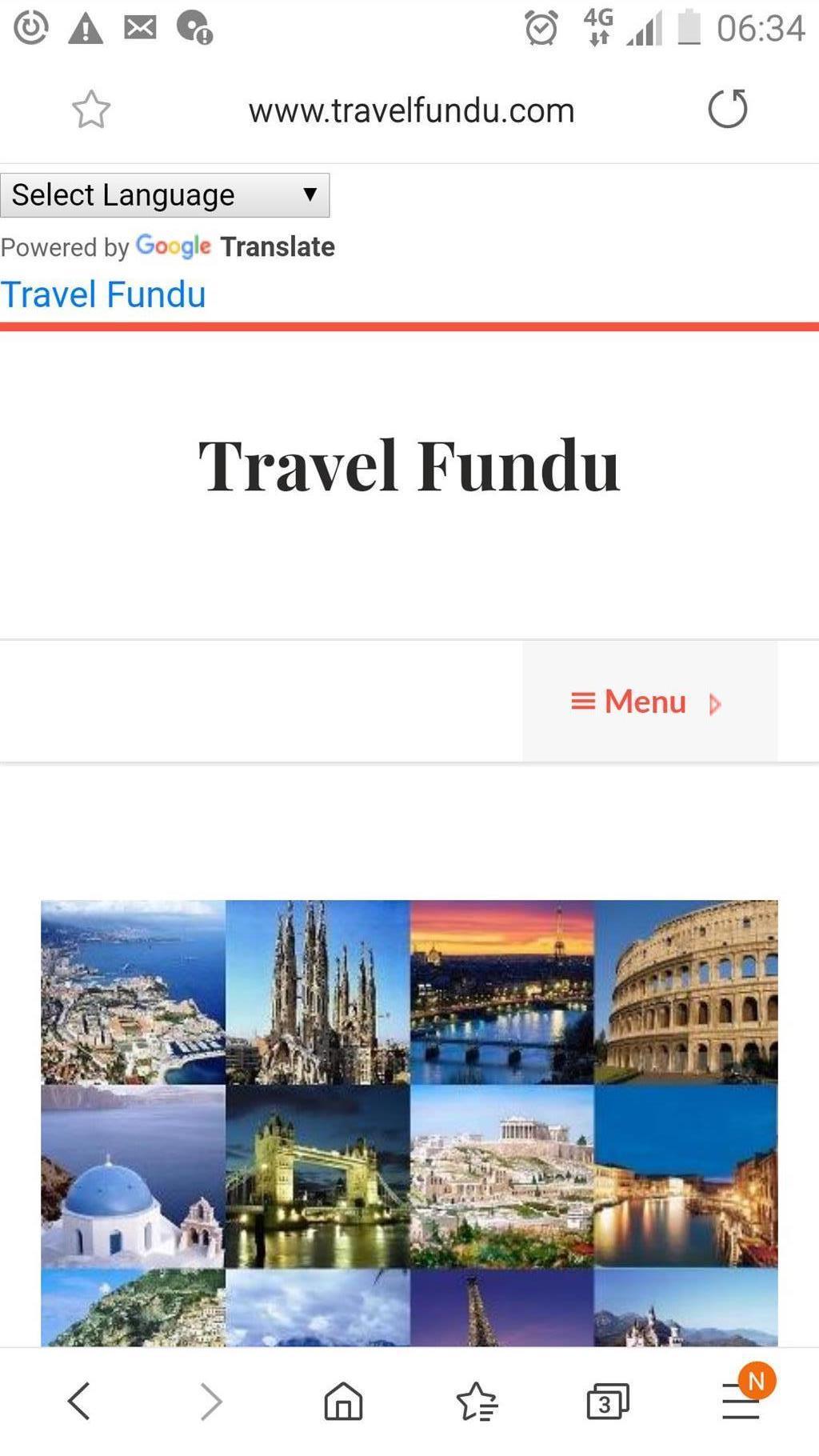 Travel website for sale