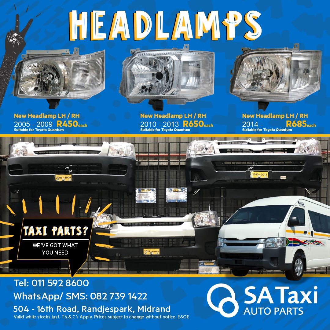 New Headlamp 2014 onward suitable for Toyota Quantum