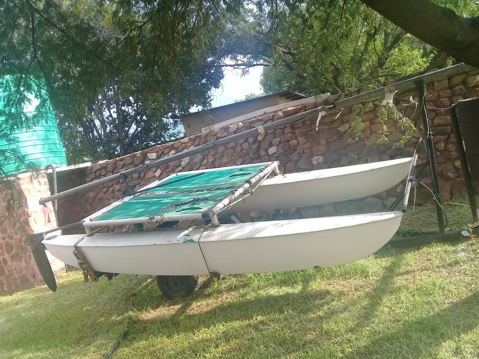 Cat Sail Boat