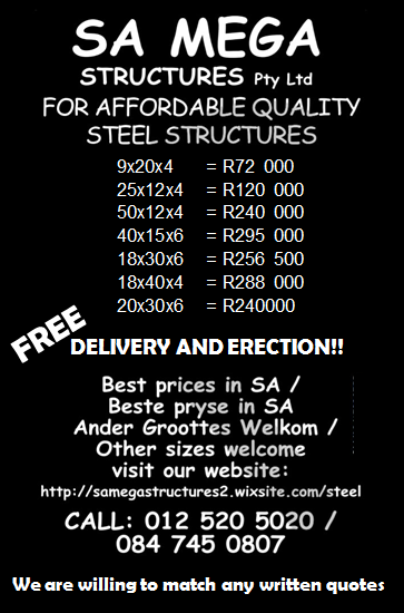STEEL STRUCTURES – FREE DELIVERY AND ASSEMBLY