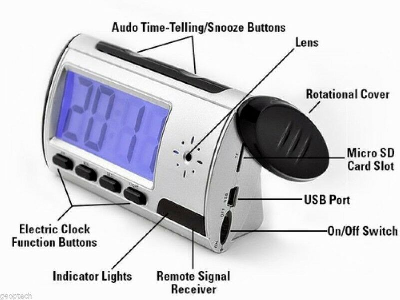 Spy Camera Clock, Remote Controlled Multi-Function DVR. Brand New Products.