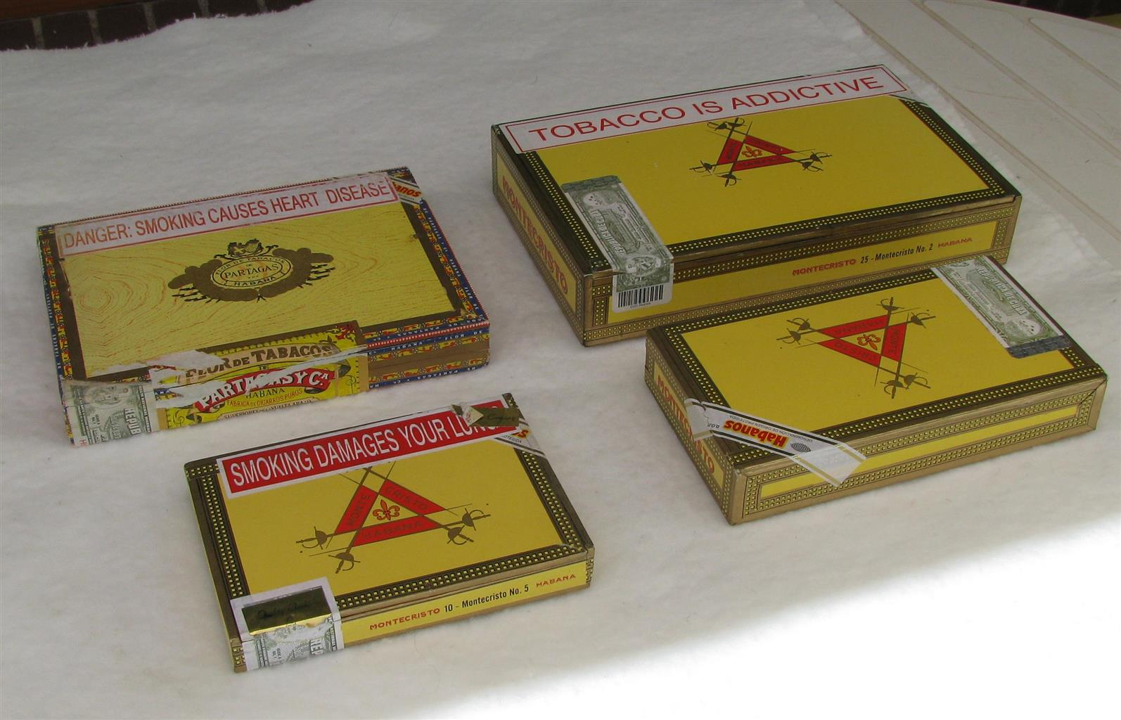 Cigar Boxes - empty imported from Cuba
