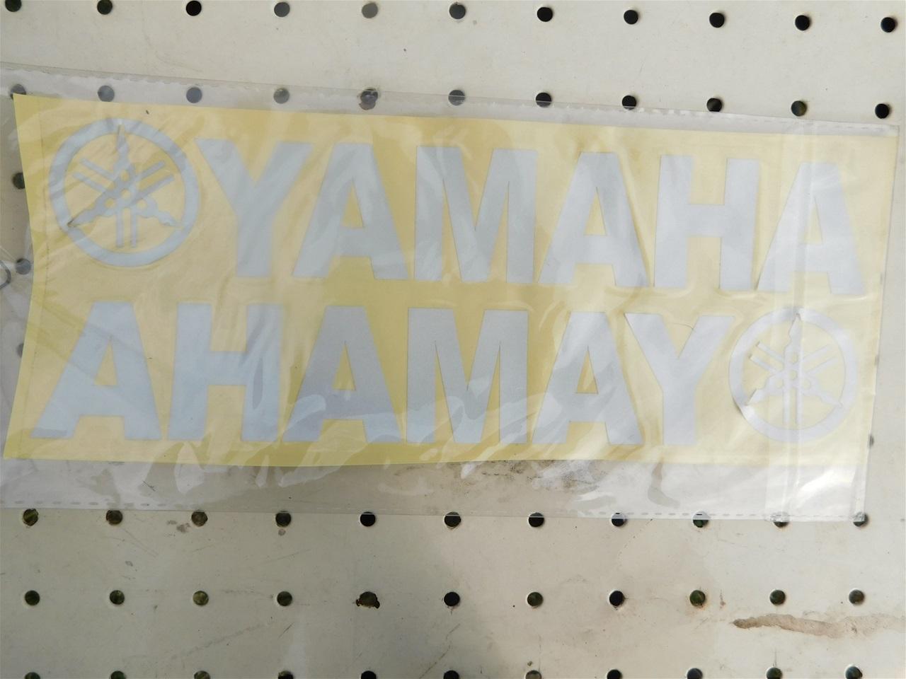 AA101.3 Sticker white Yamaha