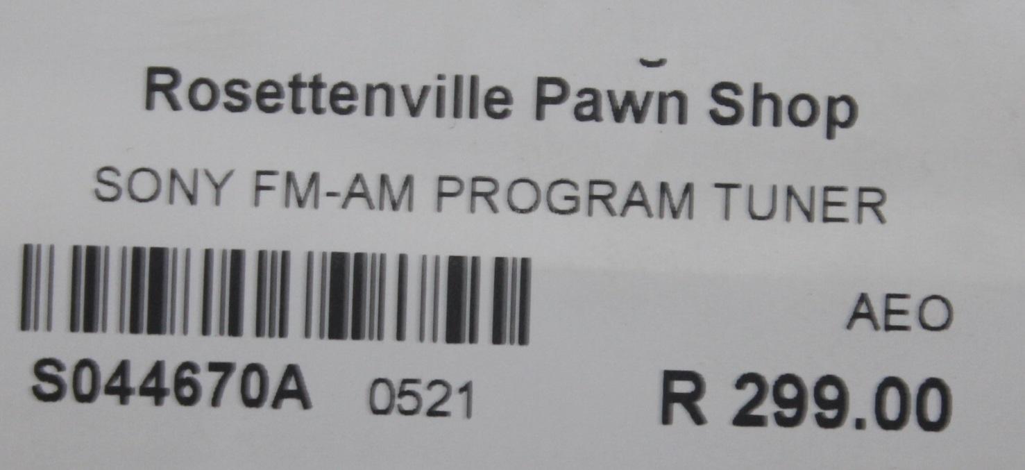 Sony fm-am program tuner S044670A #Rosettenvillepawnshop