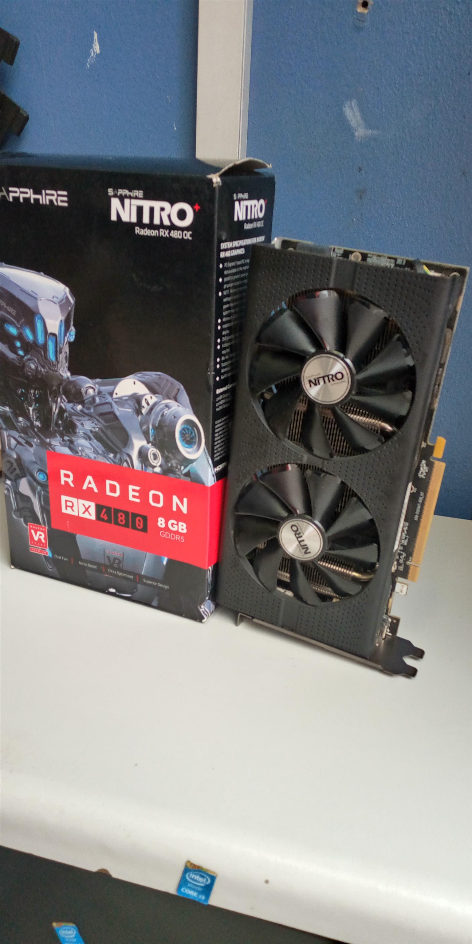 NewSapphire Radeon RX 480 Nitro+ OC 8GB GDDR5 256bit PCI-E 3.0 Desktop