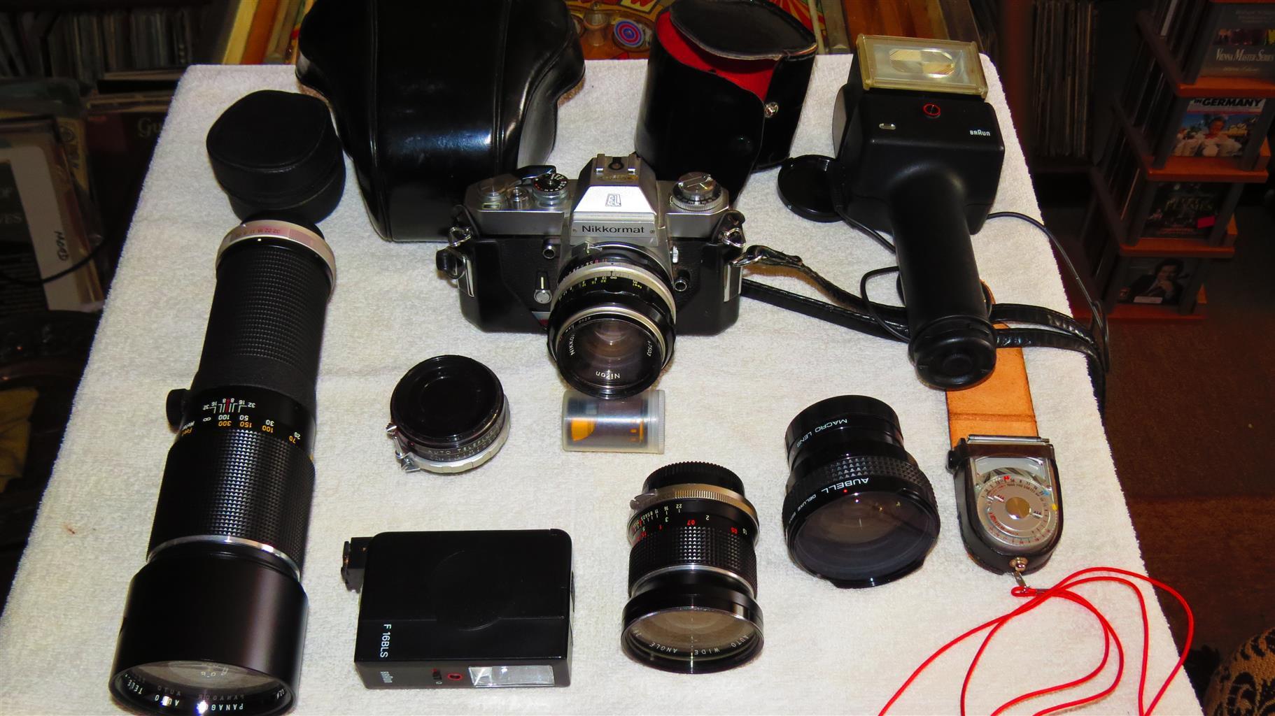 NIKKORMAT EL Camera and Accessories