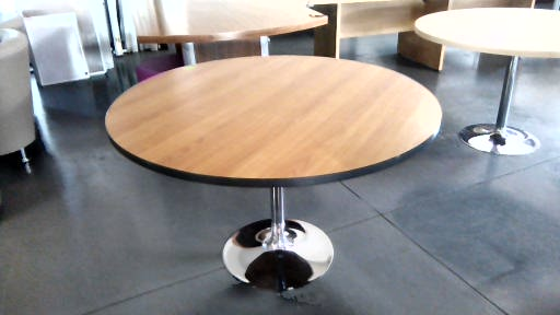 Cherry wood round boardroom table