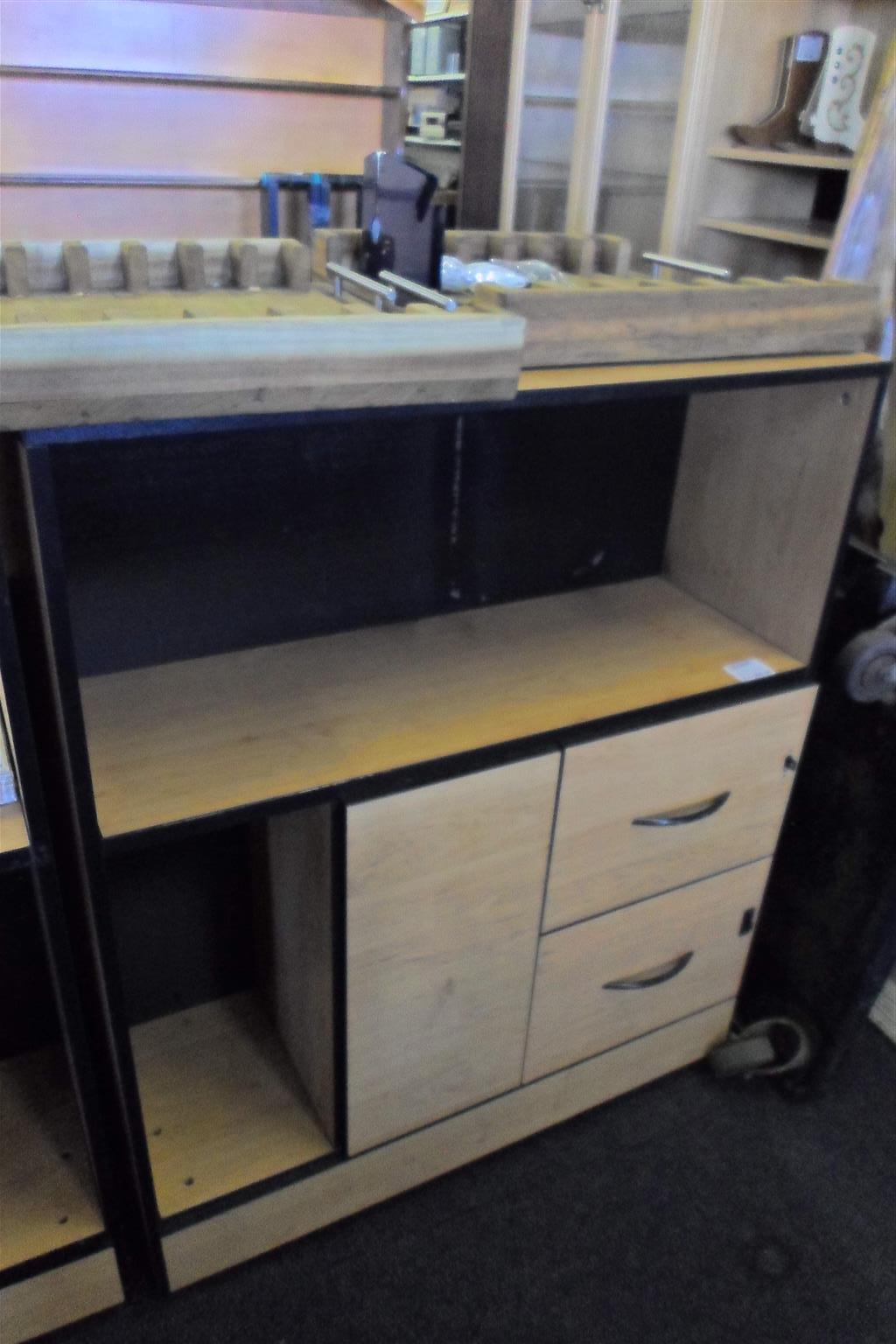 Wooden Office Desk with Storage