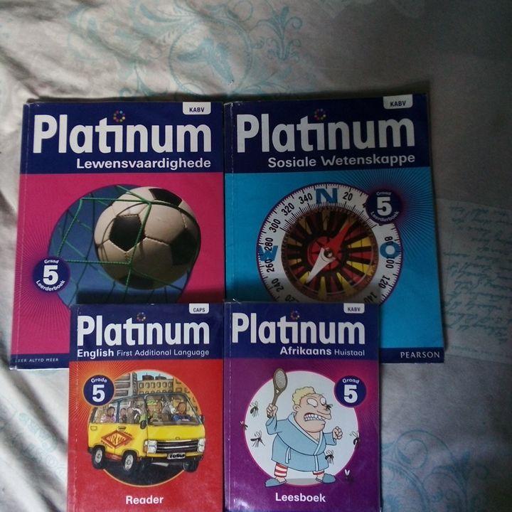 4x grade 5 school text books