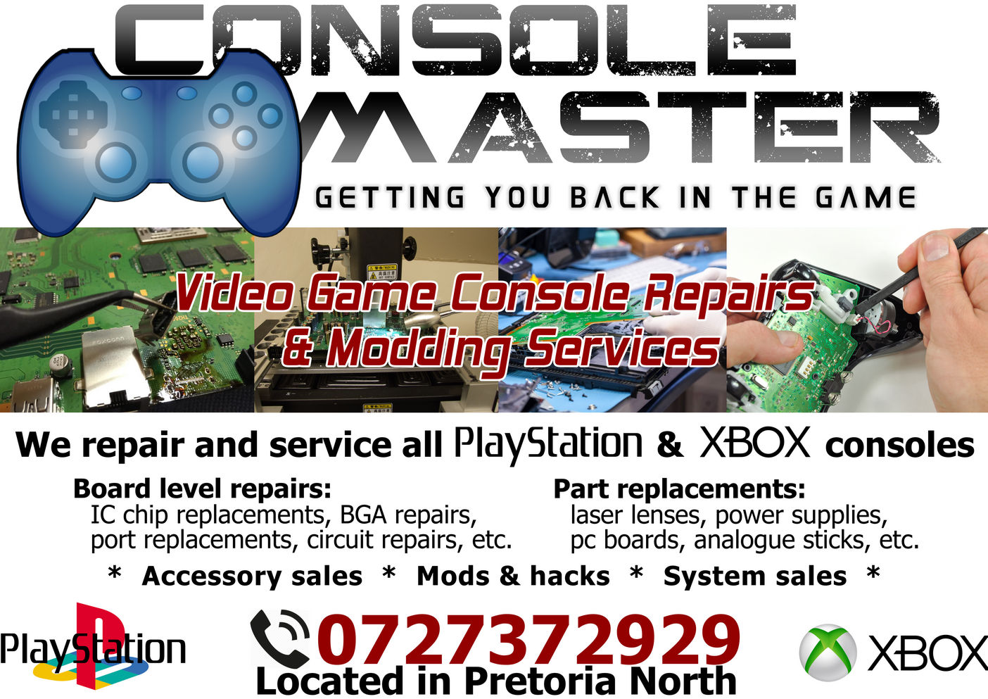Video game console repairs - Playstation & Xbox - PS4, XBOX