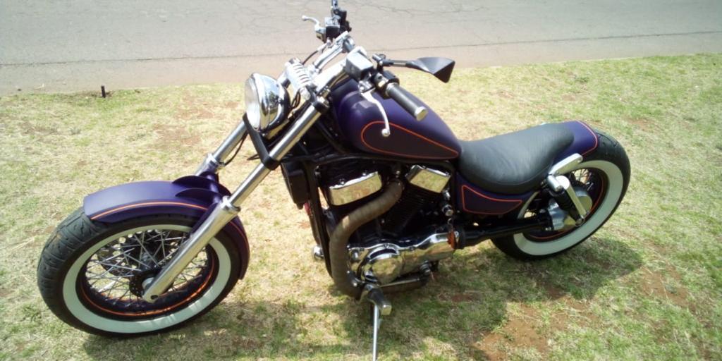 Suzuki intruder 1400cc in matt Redbull blue. The only bike like this in SA