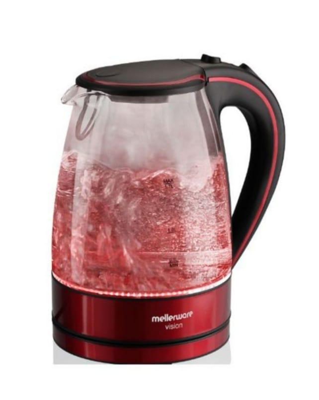 Mellerware Glass kettle Red