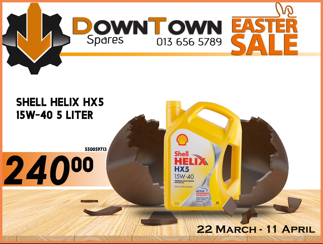 Shell Helix HX5 15W-40 5 Liter ONLY R 240!
