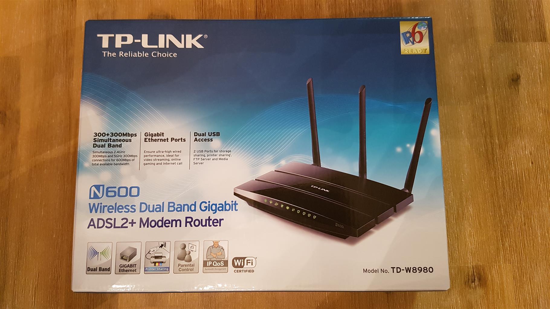 TP-Link N600 TD-W8980 Wireless Dual Band Gigabit ADSL2+ Modem Router ...