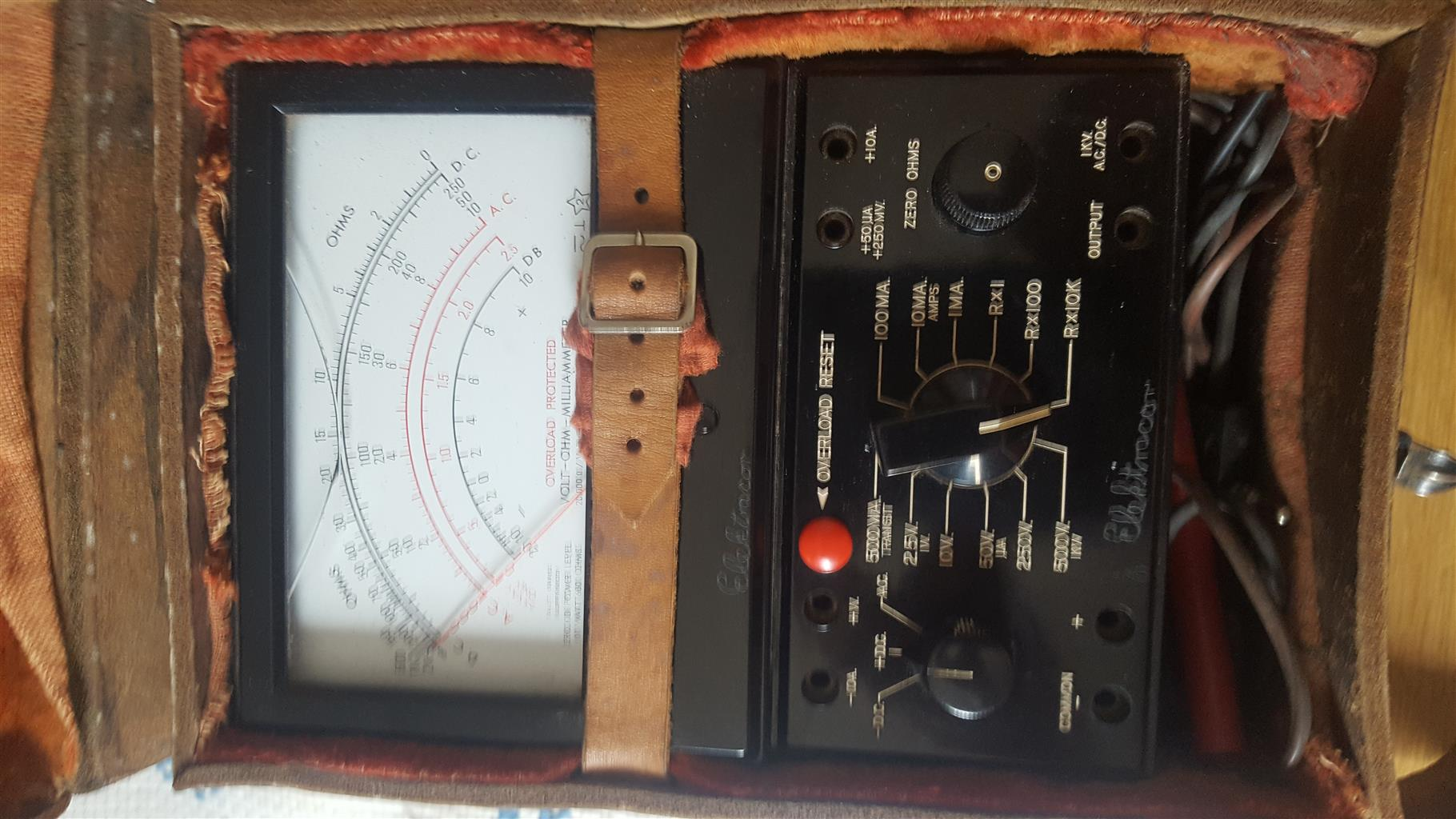 Unique vintage analog multimeter