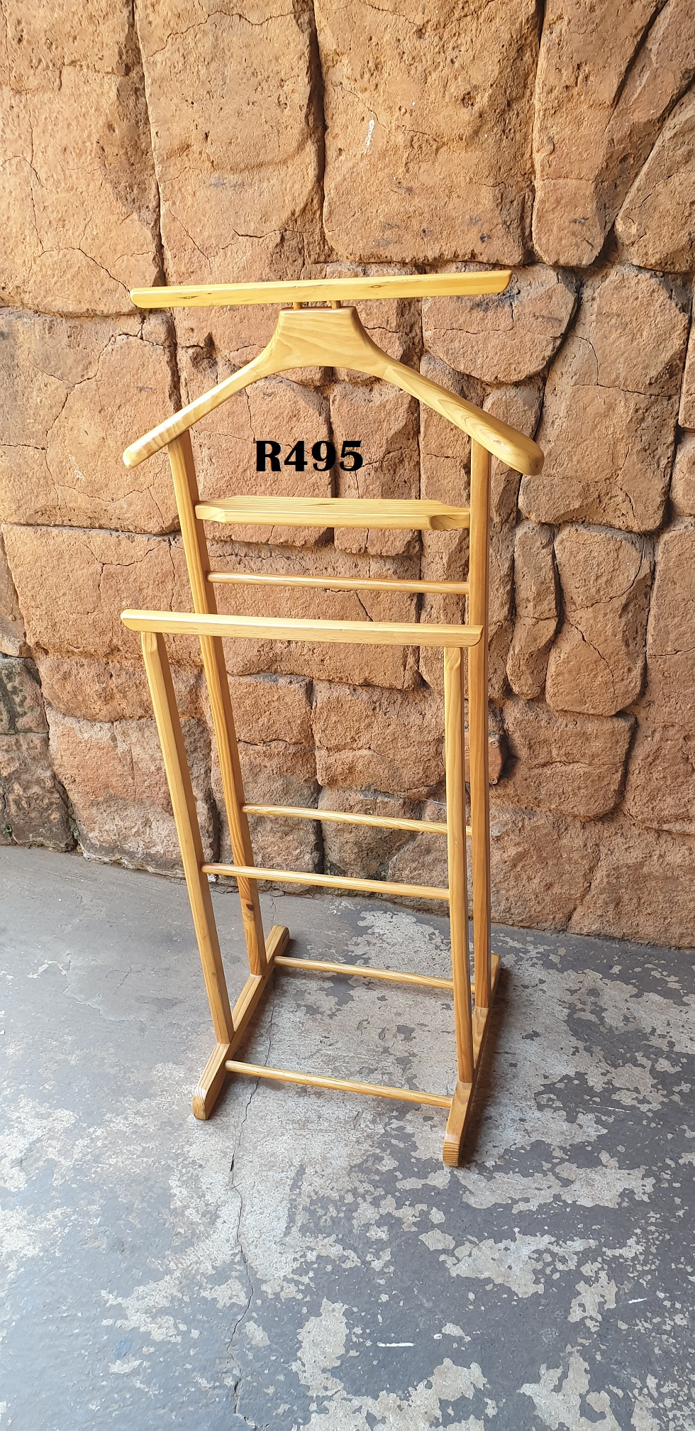 Wooden Clothing Valet Hanger Stand (L 1010mm)