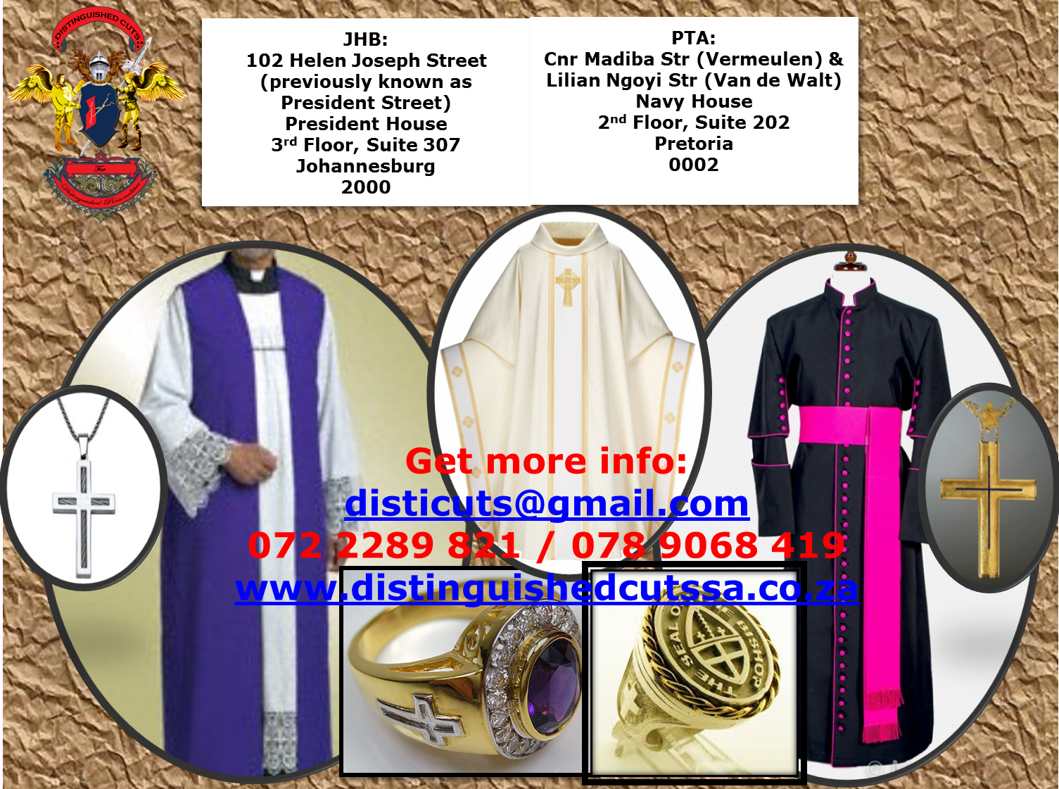 Gowns for graduations, Church, Court and Choir AND HANDMADE CLOTH MASKS