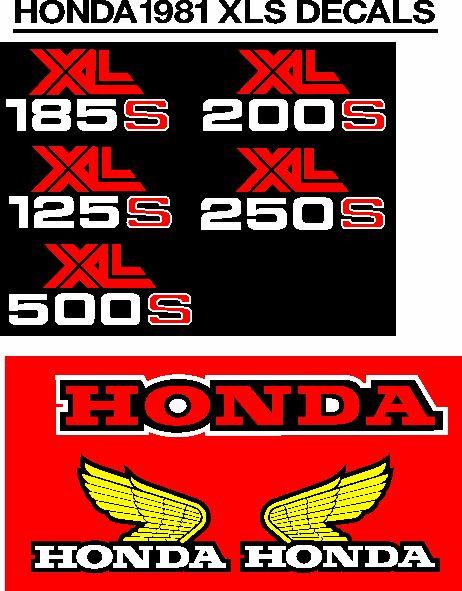 XL and XLS decals stickers vinyl cut graphics kits