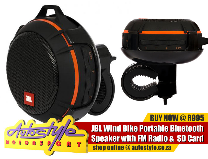 JBL Splash Proof Portable Bluetooth speaker for motorcycles