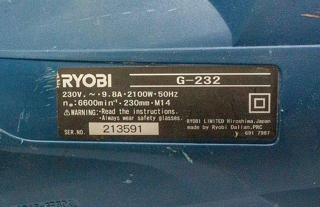 Ryobi 2100W Angle Grinder for