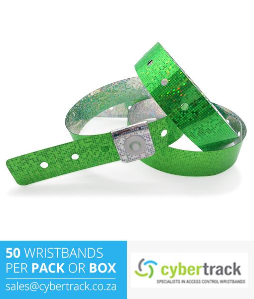 50 Hologram Wristbands Pack