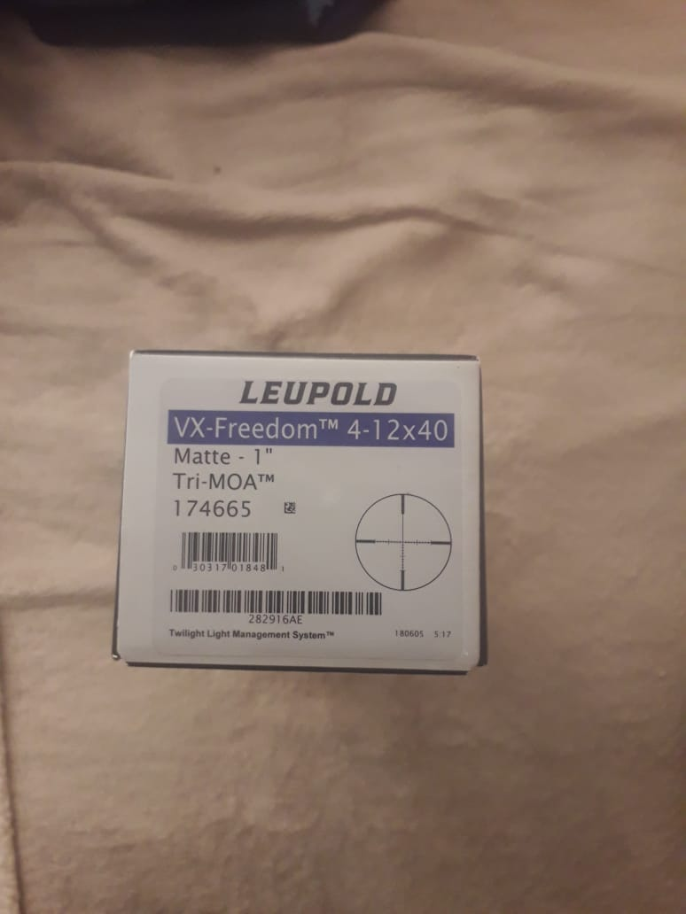 Leupold VX-freedom 4-12x40 brand new 2 months old