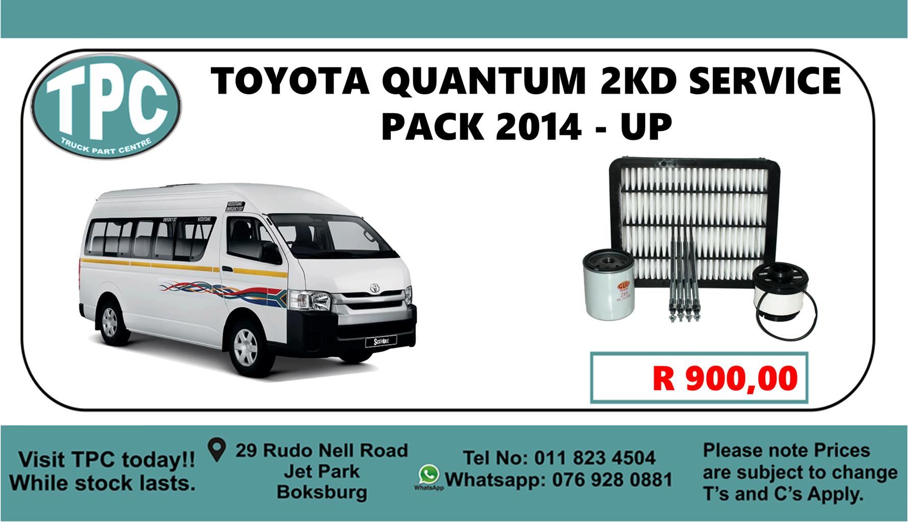 Toyota Quantum 2KD Service Pack 2014 - Up - For Sale at TPC.