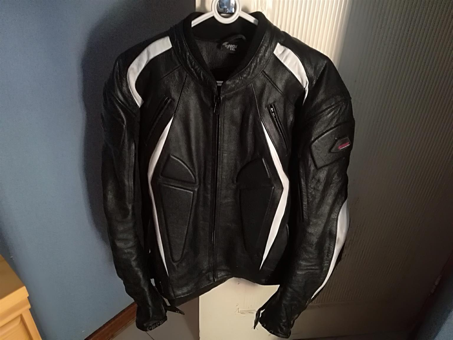 Full leather frox jacket XXL for sale.Used a Few times only,still brand new.