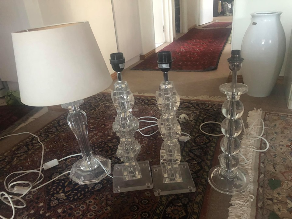 Perspex Lamps For Sale