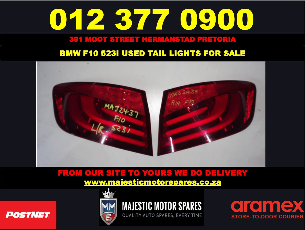 Bmw F10 523i used tail lights for sale