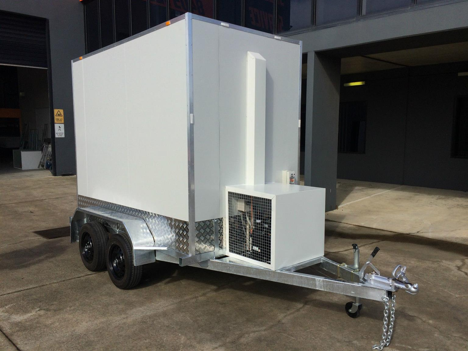 Newly built refrigerated trailers/mobile cold rooms for sale.