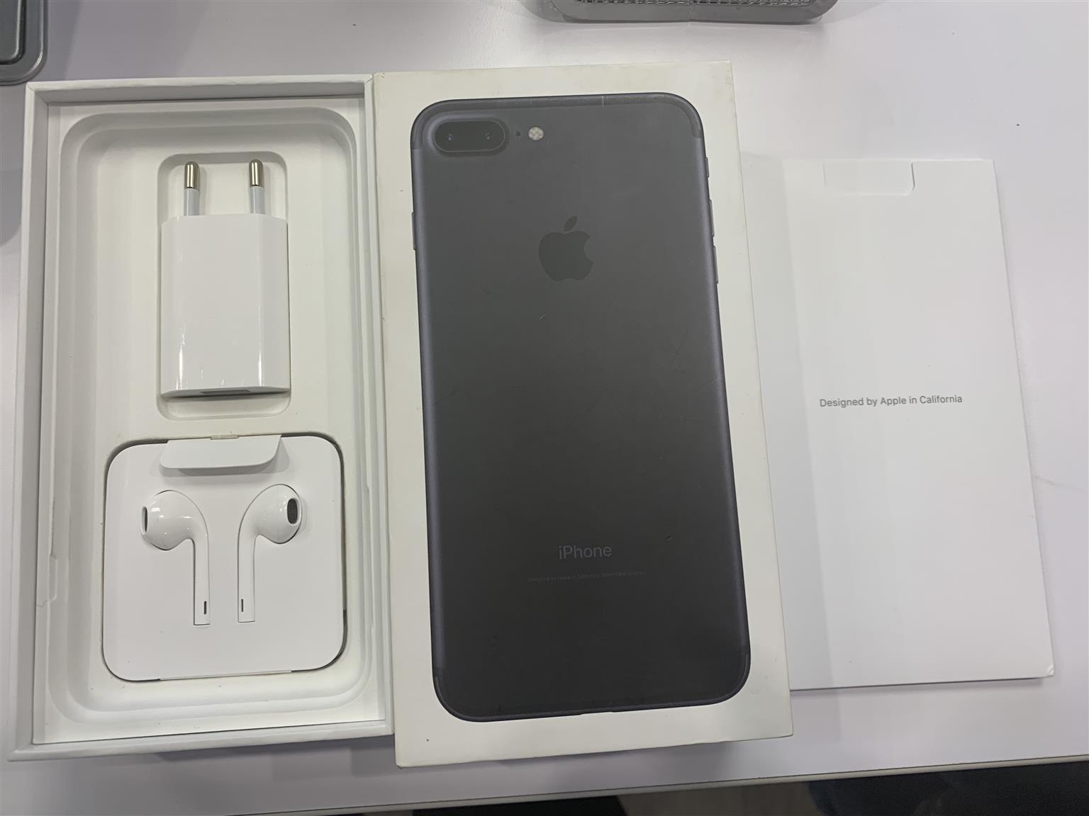 Iphone 7 plus 128GB matte black   Junk Mail
