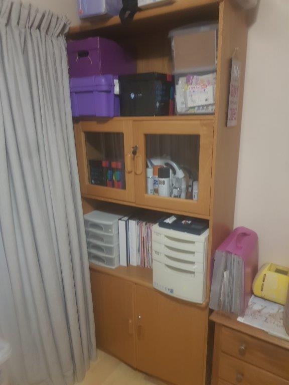 Laminated Oak Bookshelf Cupboard