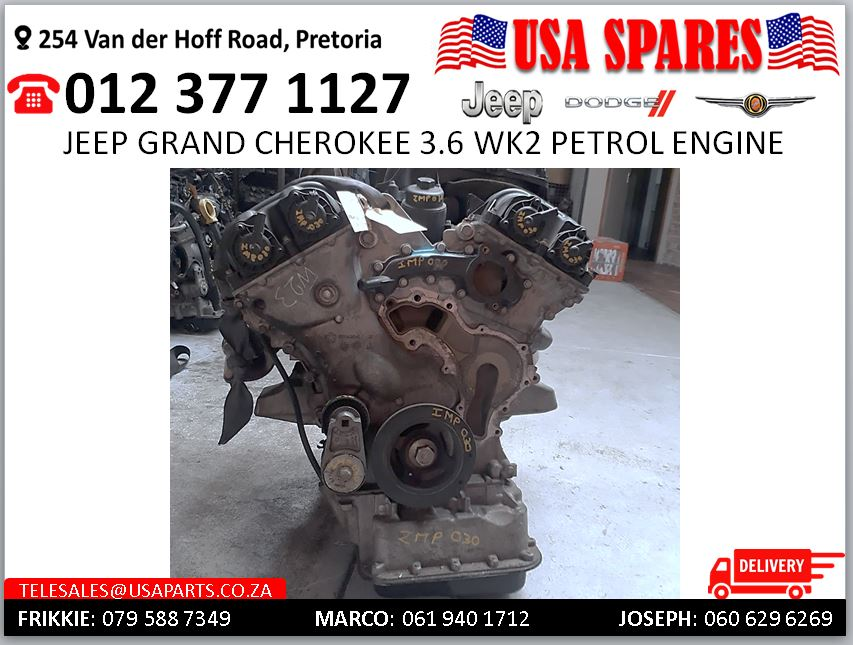 Jeep Grand Cherokee 3.6 Wk2 petrol engine for sale