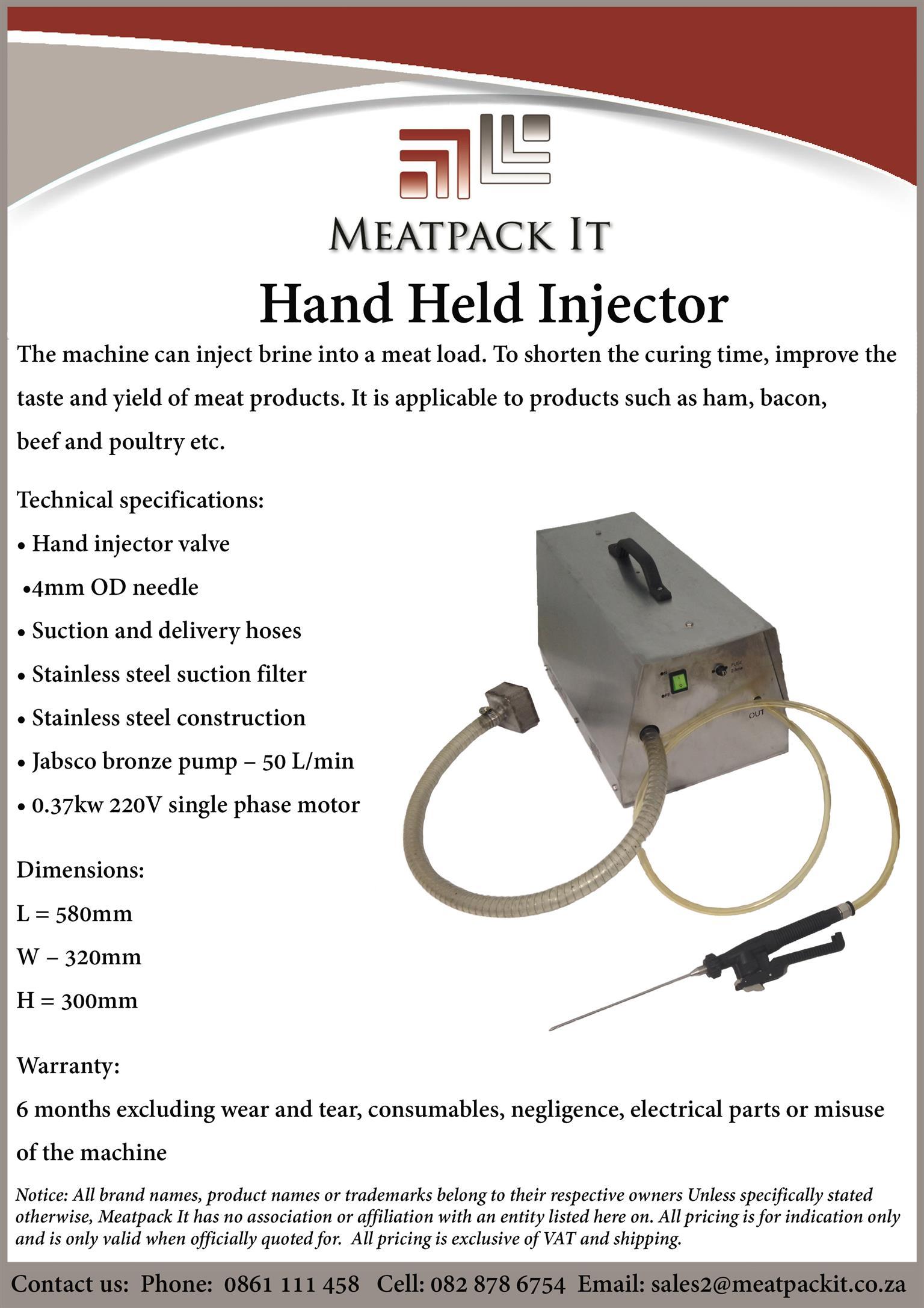Handheld Injector