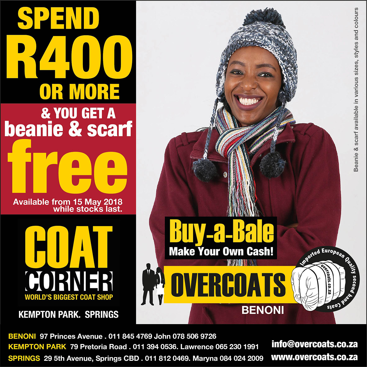 Second hand Womens coats and Jackets for sale in bales. Business Opportunity!