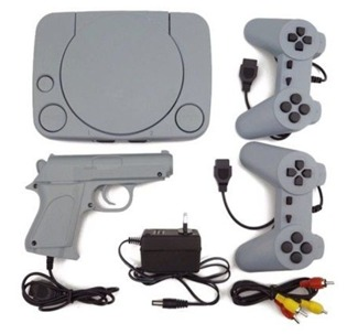 Super 8 Bit Game Plug&Play Console With 2 Game Controllers and Laser Gun