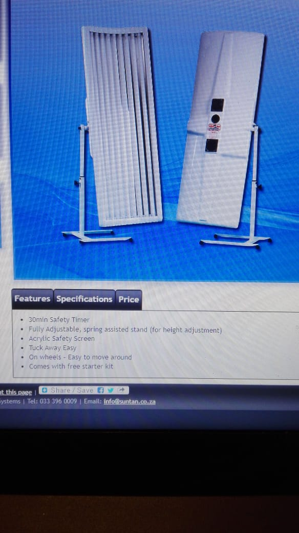 Elite sunbed for sale. Less than 30 hours on Globes