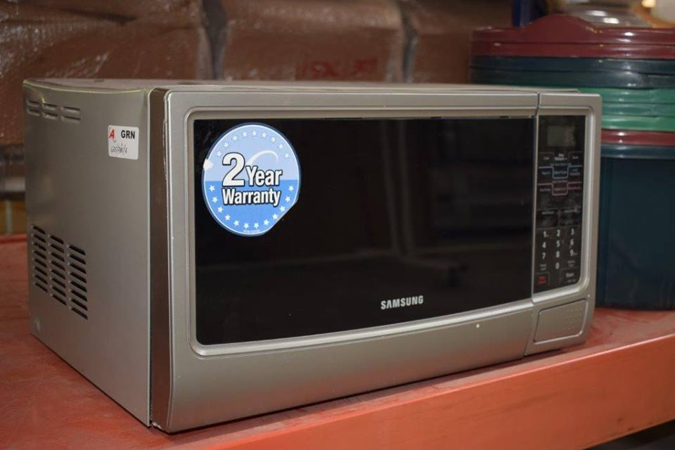 Silver samsung microwave for sale