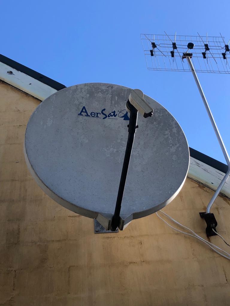 Large Fibreglass Satellite Dish - please read details below