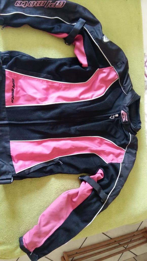 GPI moto pink biker jacket