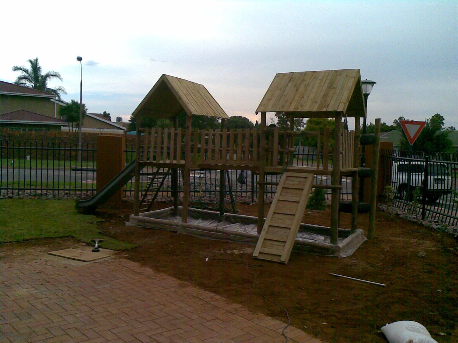 jungle gym specials and fencing
