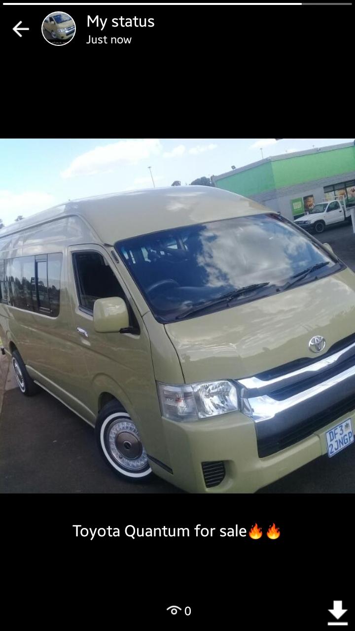 2014 Toyota Quantum 2.7 GL 14 seater bus