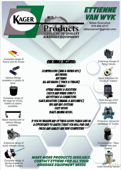 Air Brake equipment for trucks